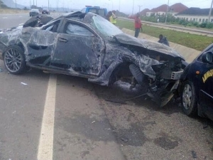 Photos from the accident scene involving El Rufai